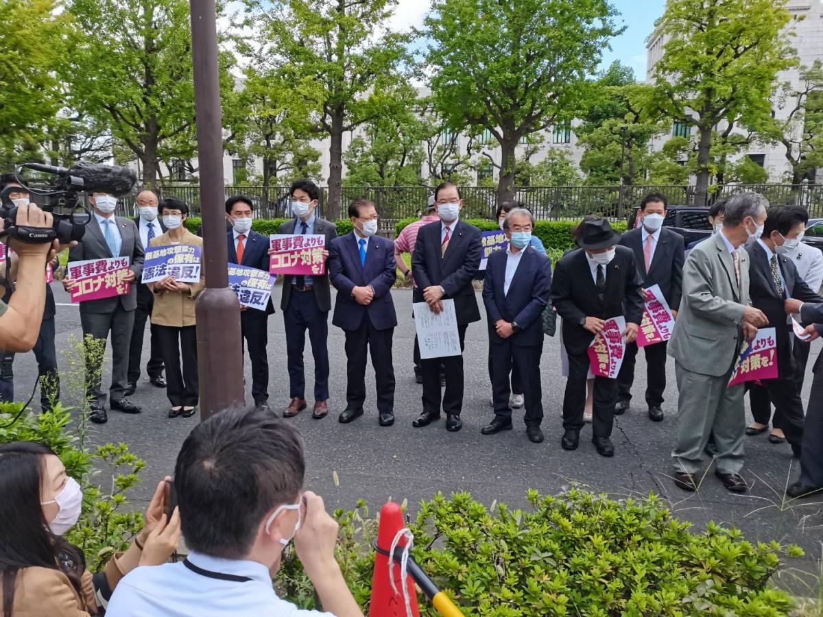 10月4日、臨時国会に臨む野党国会議員激励行動!